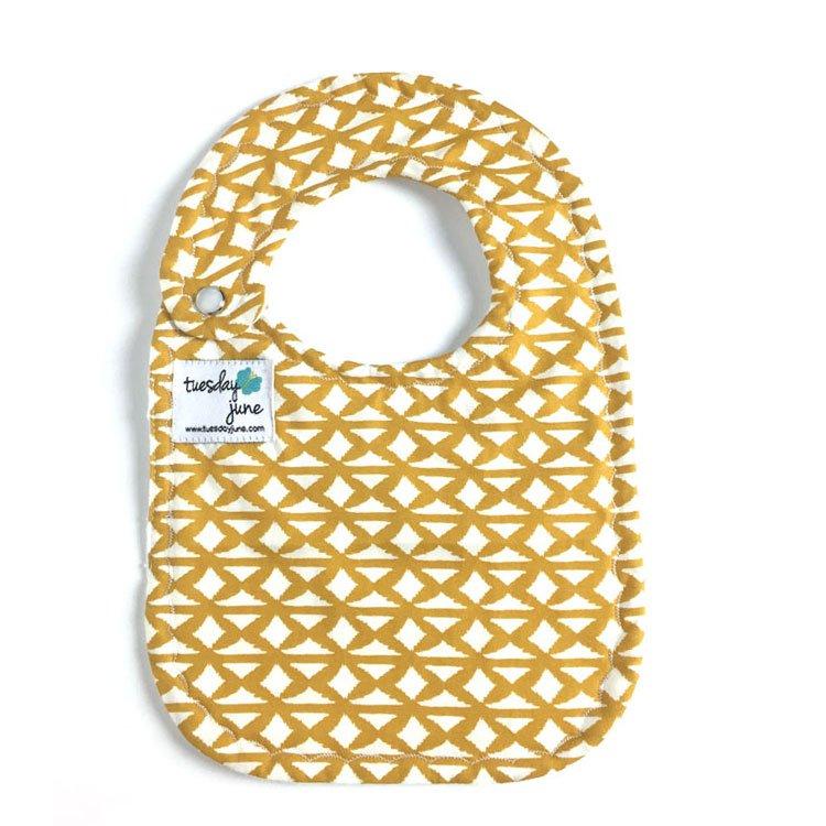 Nile – Woven Harvest Gold Baby Bib