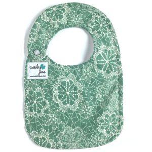 Dandelion - Seafoam Green Floral Lace Baby Bib