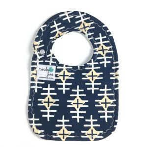 Nile Navy Diamond Weave Baby Bib