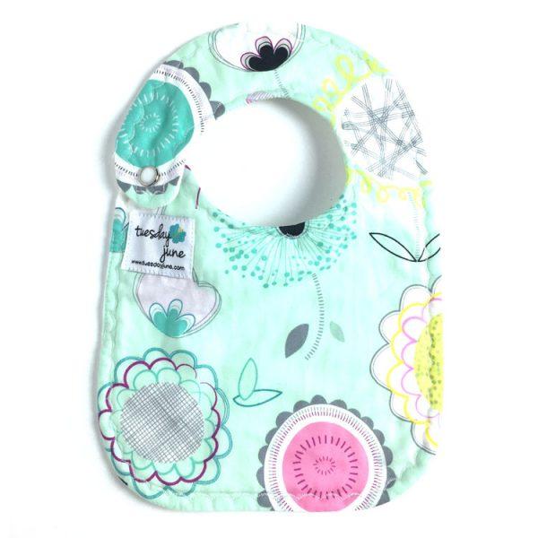 Bloom - Teal Floral Pop Baby Bib