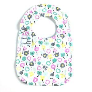 Bloom - Teal Petite Posy Baby Bib