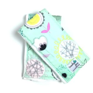 Bloom - Teal Floral Pop Burp Cloths