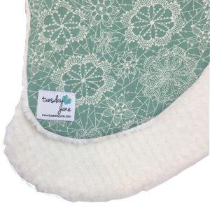 Dandelion Seafoam Green Floral Lace Nursing Pillow Cover