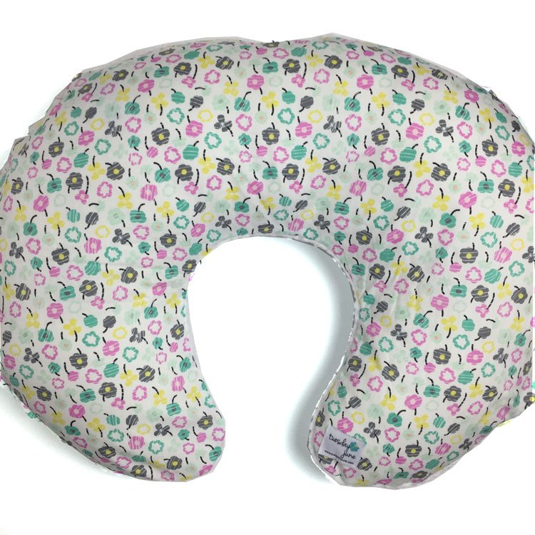 Bloom – Teal Petite Posy Boppy Pillow Cover