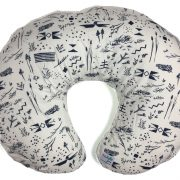 Nile - Navy Wild Reed Boppy Pillow Cover