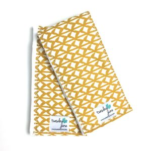 Nile - Woven Harvest Gold Burp Cloths