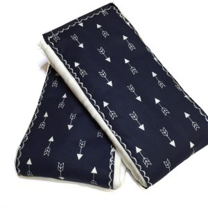 Navy Arrow Burp Cloths