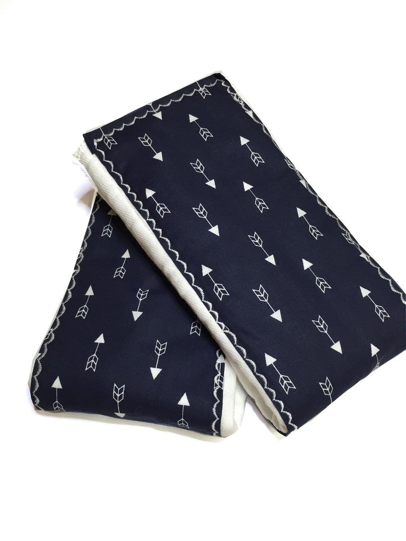 Navy Arrow Burp Cloths
