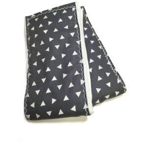 Gray Triangle Burp Cloths