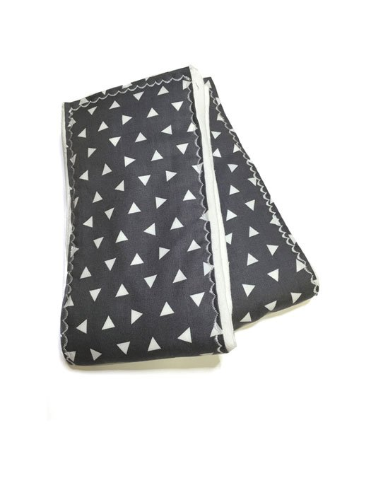 Gray Triangle Burp Cloths