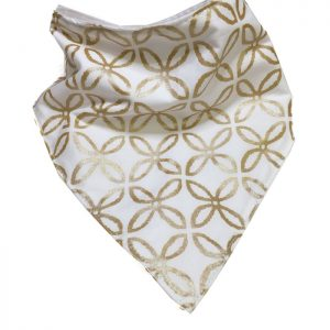 Gold Metallic Bandana Bib