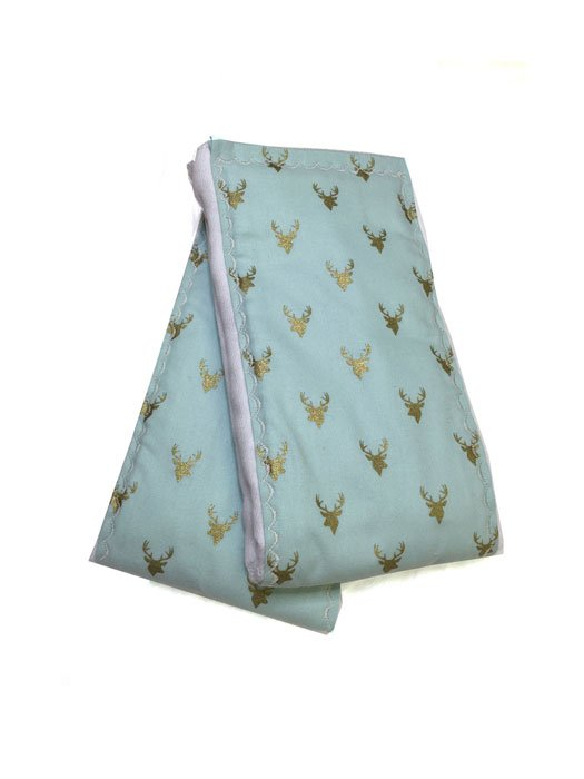 Mint Deer Burp Cloths