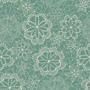 Dandelion - Seafoam Green Floral Lace Fitted Crib Sheet