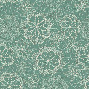 Dandelion - Seafoam Green Floral Lace
