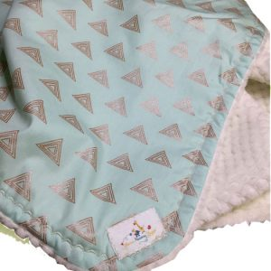 Mint Gold Triangle Baby Blanket