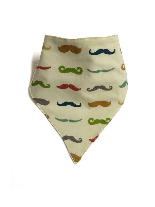 Organic Bandana Bib Mustache