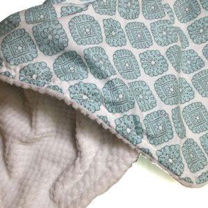 Blue Diamond baby blanket