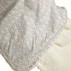 Tan Rectangle Baby Blanket