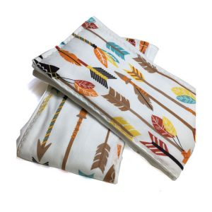 Feather Arrow Burp Cloths