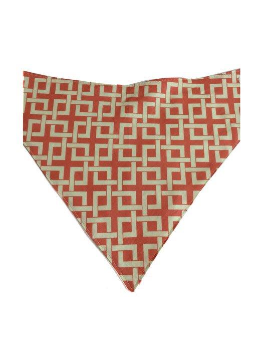 Geometric Square Bandana Bib