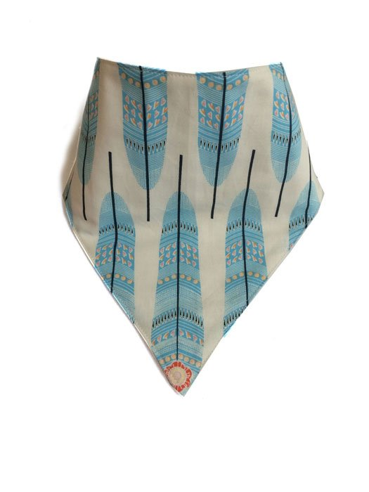 Blue Feather Bandana Bib