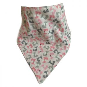 Mini Fox Bandana Bib Pink