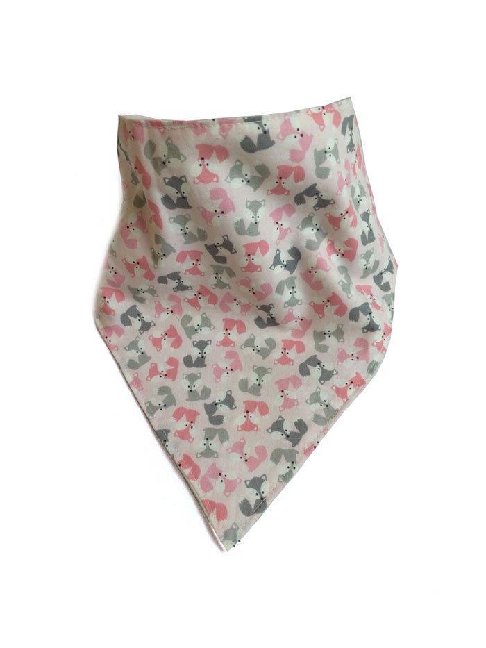 Mini Fox Bandana Bib Pink