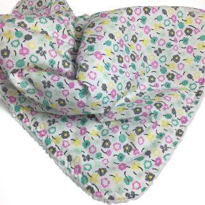 Bloom - Teal Petite Posy baby blanket