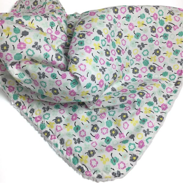 Bloom - Teal Petite Posy baby blanket