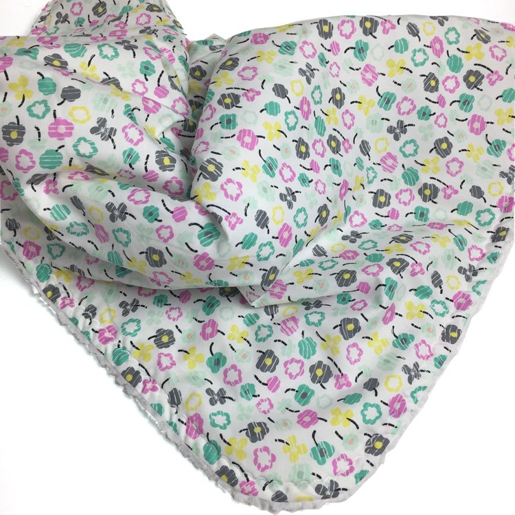 Bloom – Teal Petite Posy baby blanket