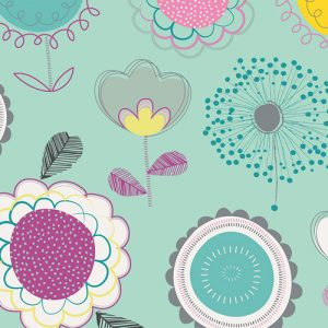 Floral Pop Changing Pad Cover