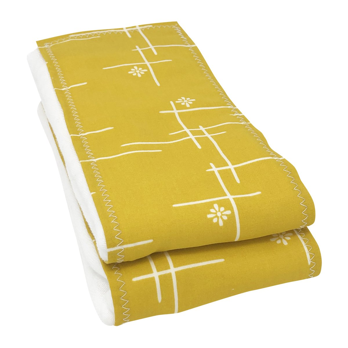 Marigold Starburst Organic Cotton Burp Cloths