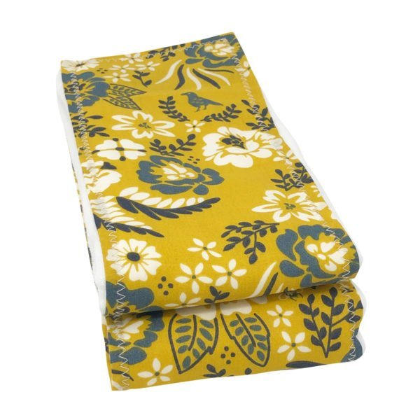 Marigold Floral Organic Cotton Burp Cloths