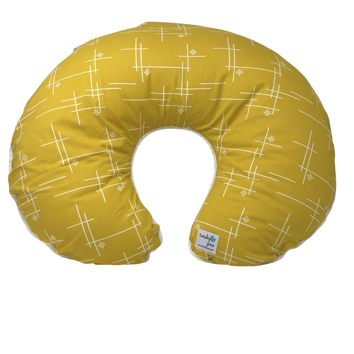 Marigold Starburst Nursing Pillow Cover