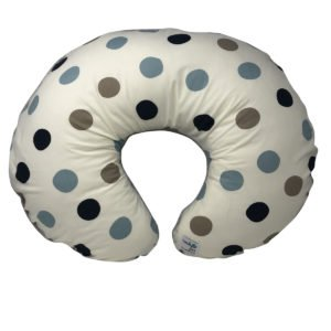 Stormy Blue Dot Organic Nursing Pillow Cover