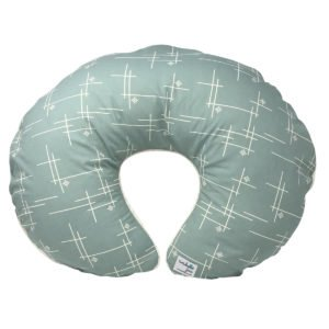 Mineral Green Starburst Nursing Pillow Cover