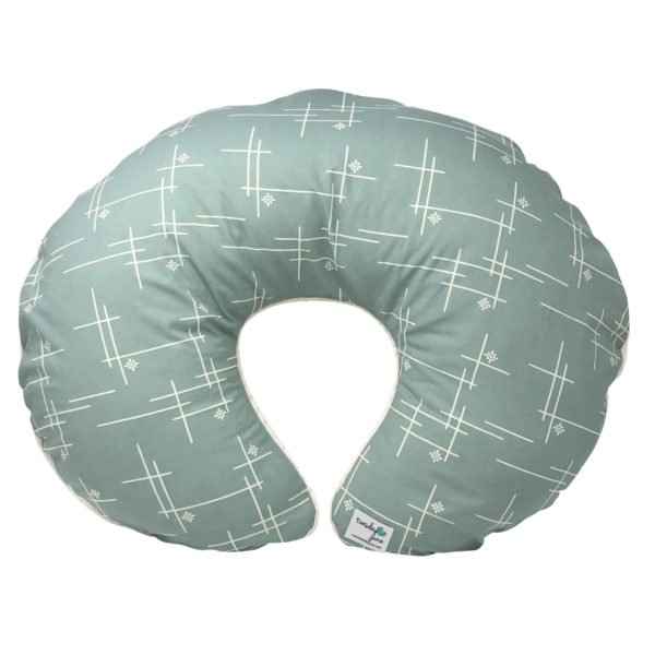 Mineral Green Starburst Nursing Pillow Cover