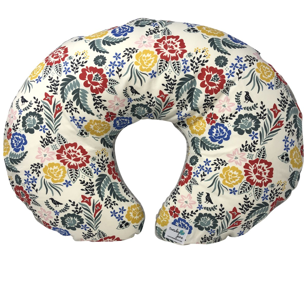 Boho Floral Organic Nursing Pillow Cover