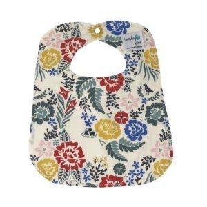 Boho Floral Organic Cotton Baby Bib