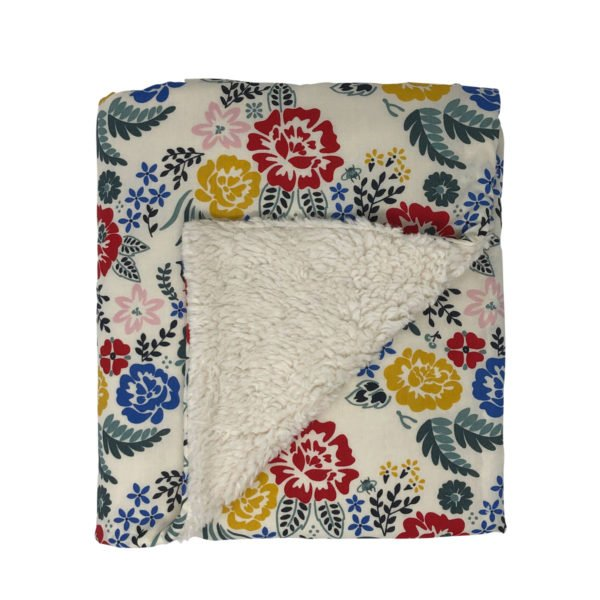 Boho Floral Organic Cotton Baby Blanket