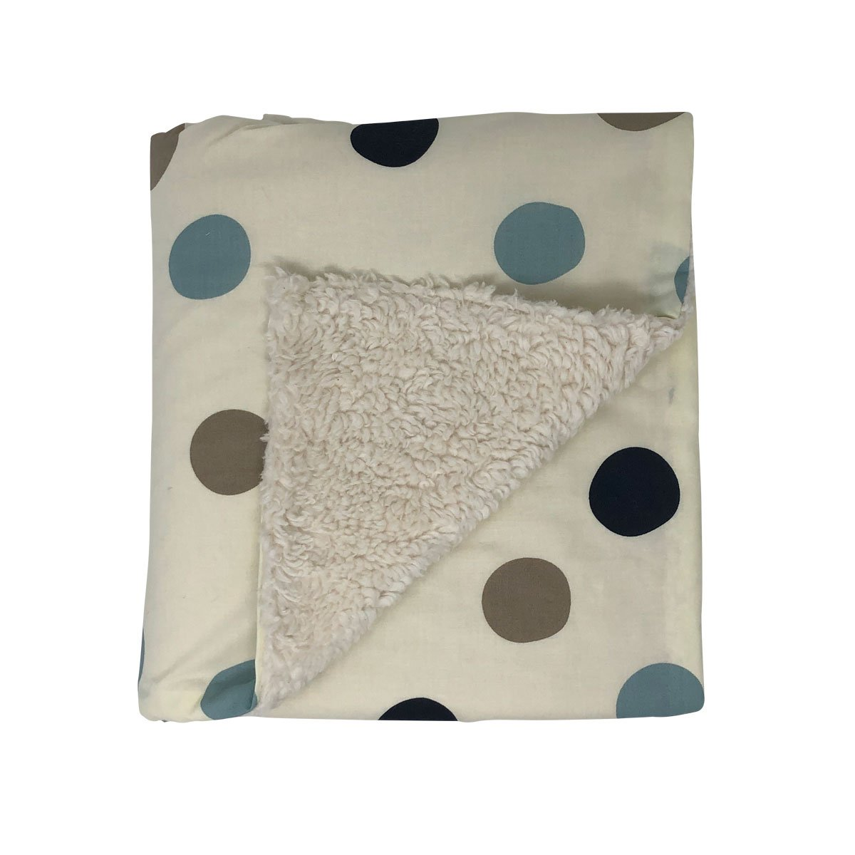 Stormy Blue Dot Organic Cotton Baby Blanket