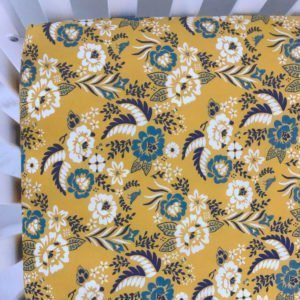 Marigold Floral Organic Fitted Crib Sheet