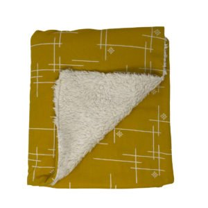 Marigold Starburst Organic Cotton Baby Blanket