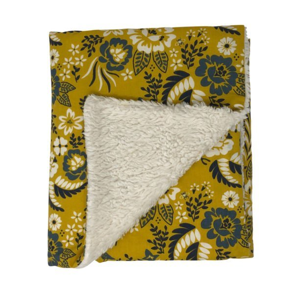 Marigold Floral Organic Cotton Baby Blanket