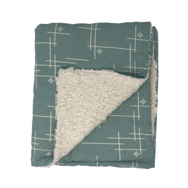 Mineral Green Starburst Organic Cotton Baby Blanket