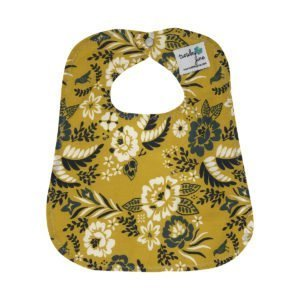 Marigold Floral Organic Cotton Baby Bib