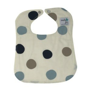 Stormy Blue Dot Organic Cotton Baby Bi