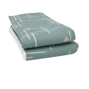 Mineral Green Starburst Organic Cotton Burp Cloths