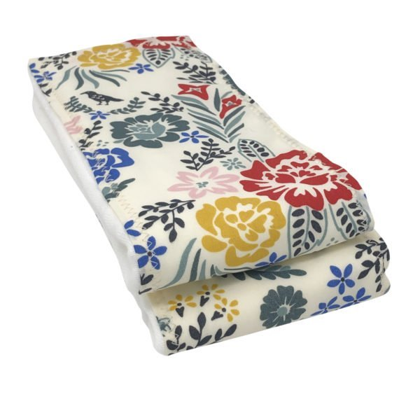 Boho Floral Organic Cotton Burp Cloths