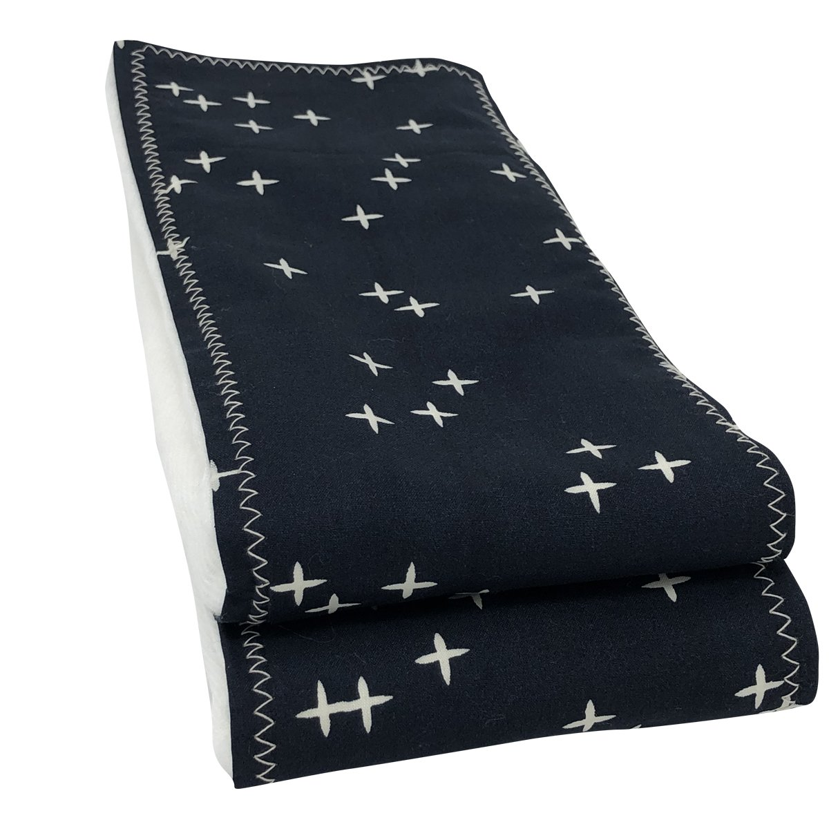Navy Twinkle Organic Cotton Burp Cloths